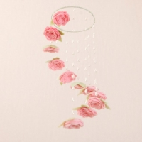 pink rose cascade crib mobile