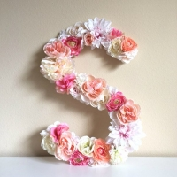 Flower Letter Wall Decor