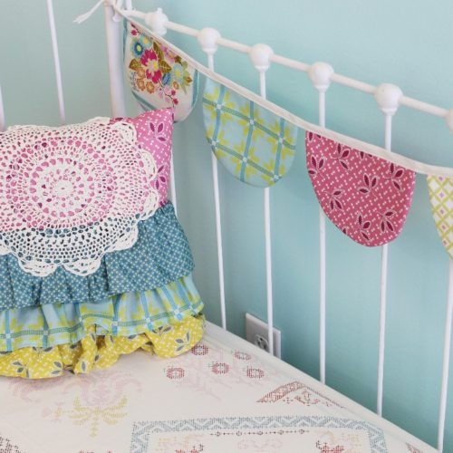 doily ruffle pillow