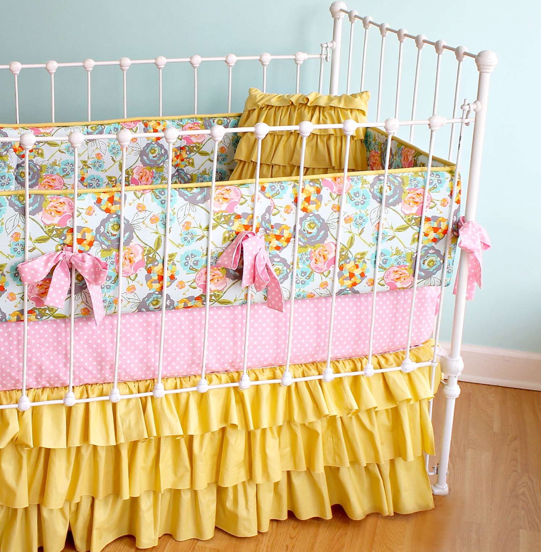 Lily Belle Yellow Baby Bedding - Lottie Da Baby