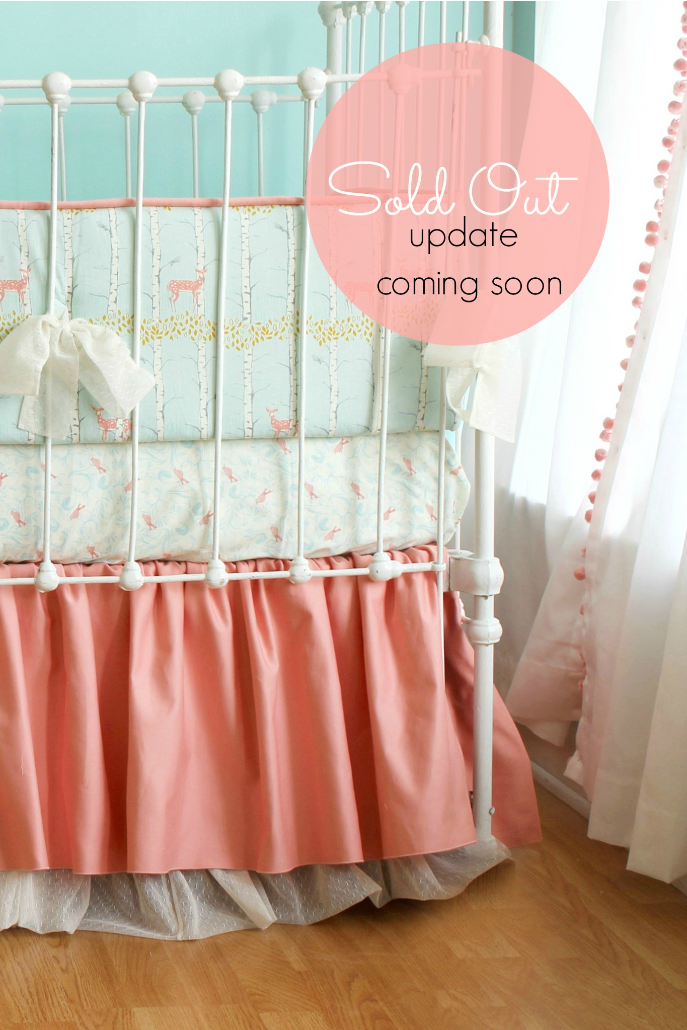 unicorn cribs copy floral company farmhouse baby dsc bedding peach products crib of hudson