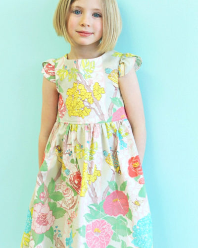 girls floral easter dress