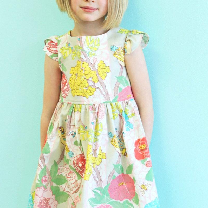 girls floral easter dress