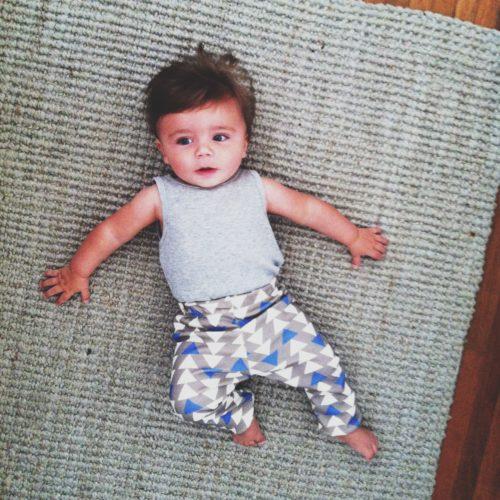 triangle baby leggings