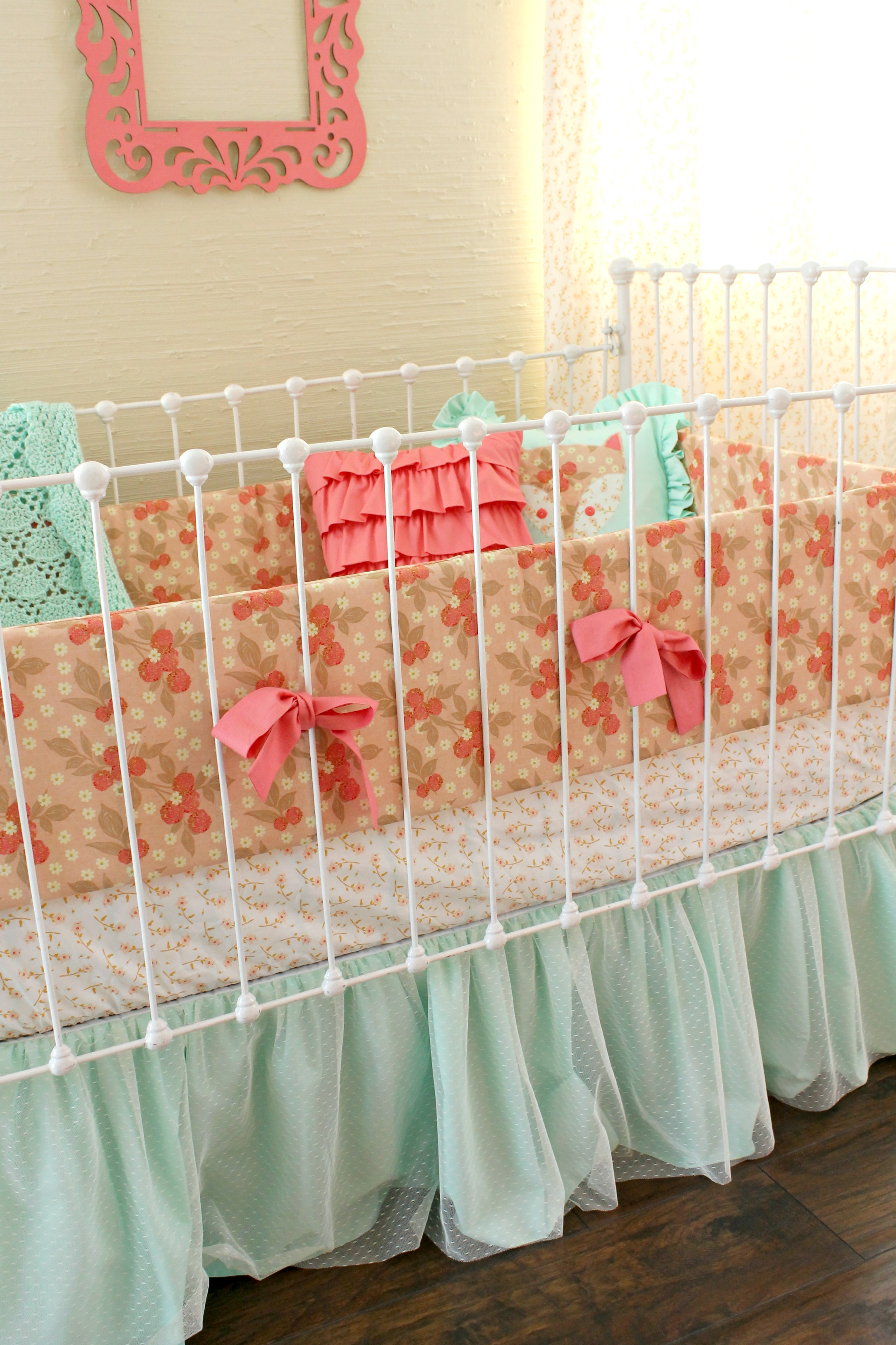 pale asli aetherair three sheet bedding pink co chevron cribs crib peach piece set and gold large