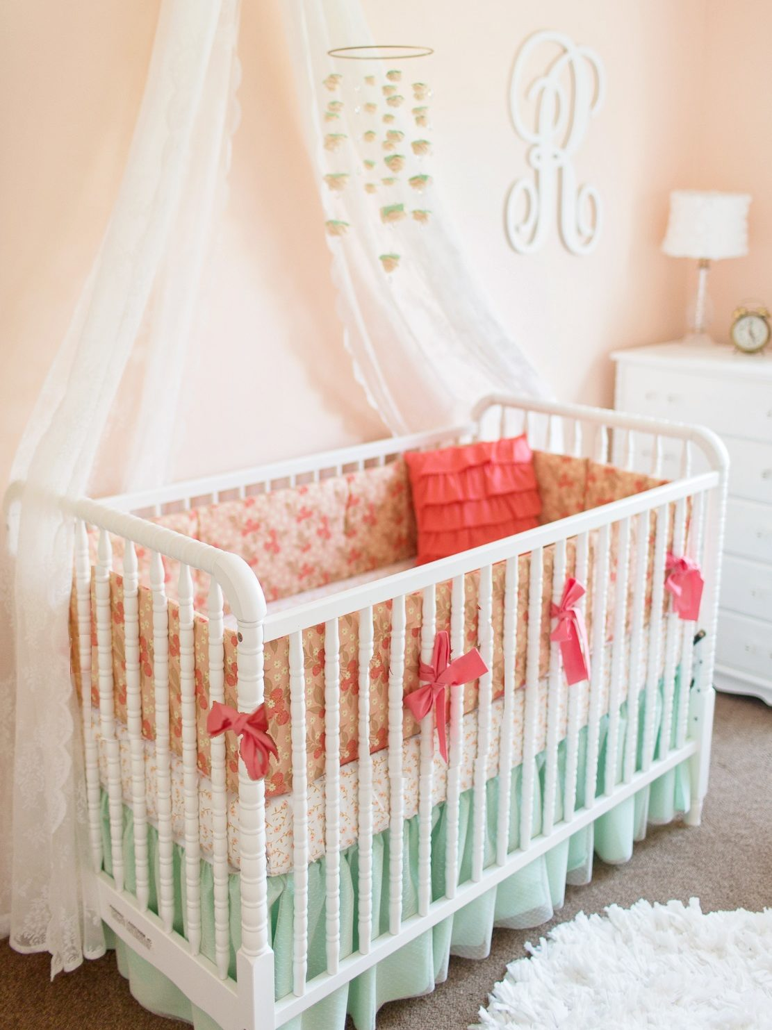 Pretty As A Peach Baby Bedding Lottie Da Baby