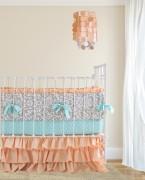 Peach Ruffle Bedding