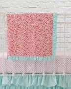 Coral Roses Blanket