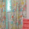 garden floral curtain web