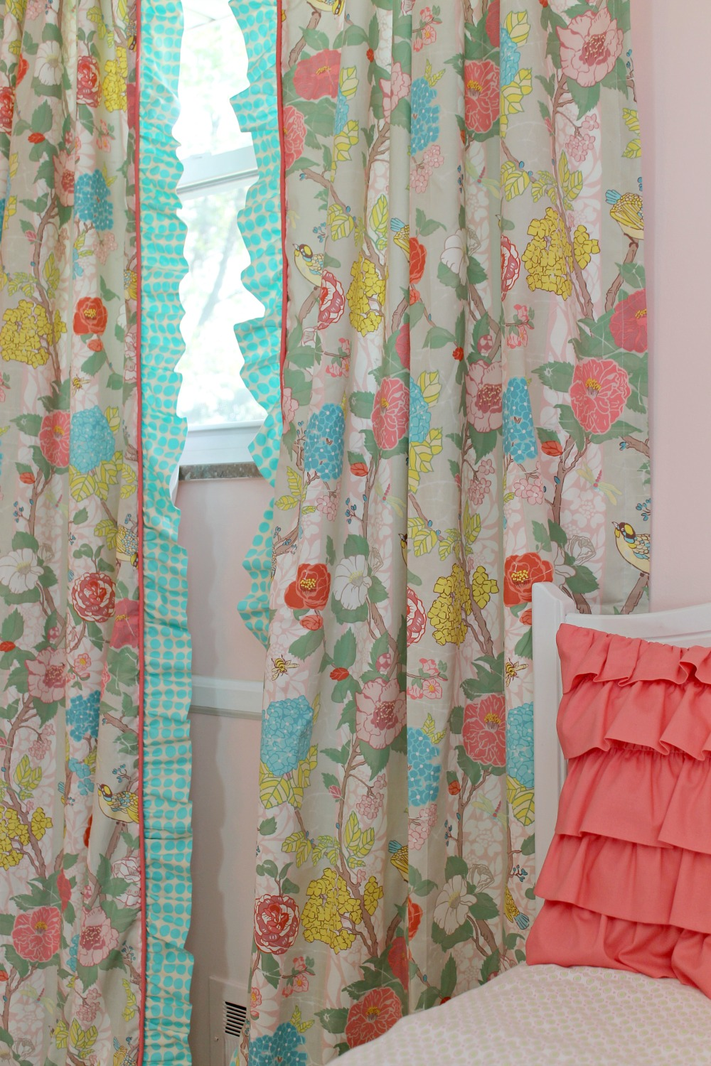free shipping garden look linen pair home panel ruffle curtain overstock curtains aurora product today