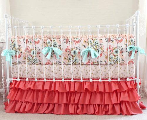 Blush Pink Floral Bumper Set
