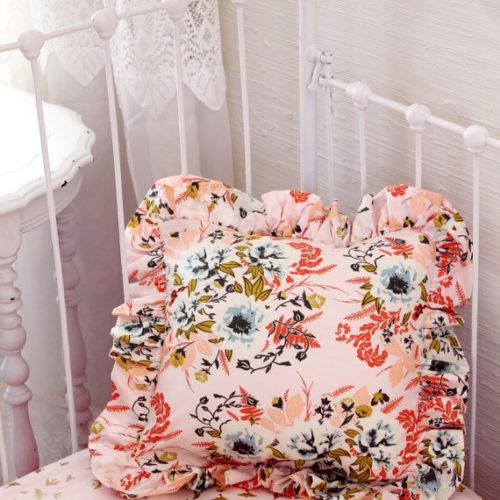 Blush Pink Floral Pillow
