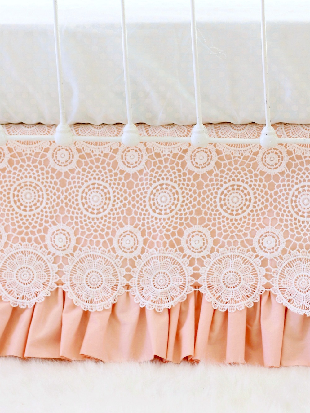 Crochet Lace Crib Skirt Lottie Da Baby