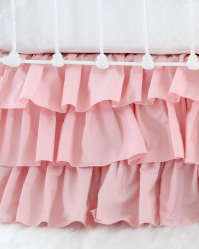 pink ruffle crib skirt