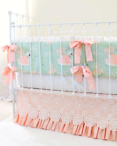 Swan Baby Bedding Set