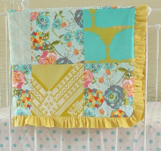 Lily Belle Patchwork Squares Crib Blanket Lottie Da Baby