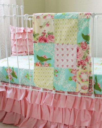 turquoise-mockingbird-patchwork-squares-blanket
