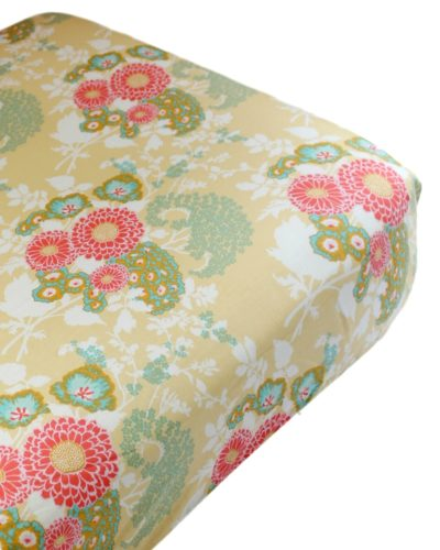 buttercup floral crib sheet