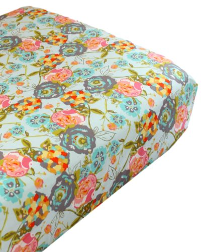 lily belle floral crib sheet
