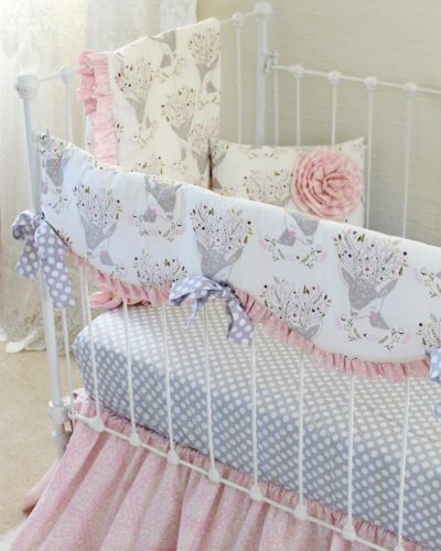 pink fawn baby bedding