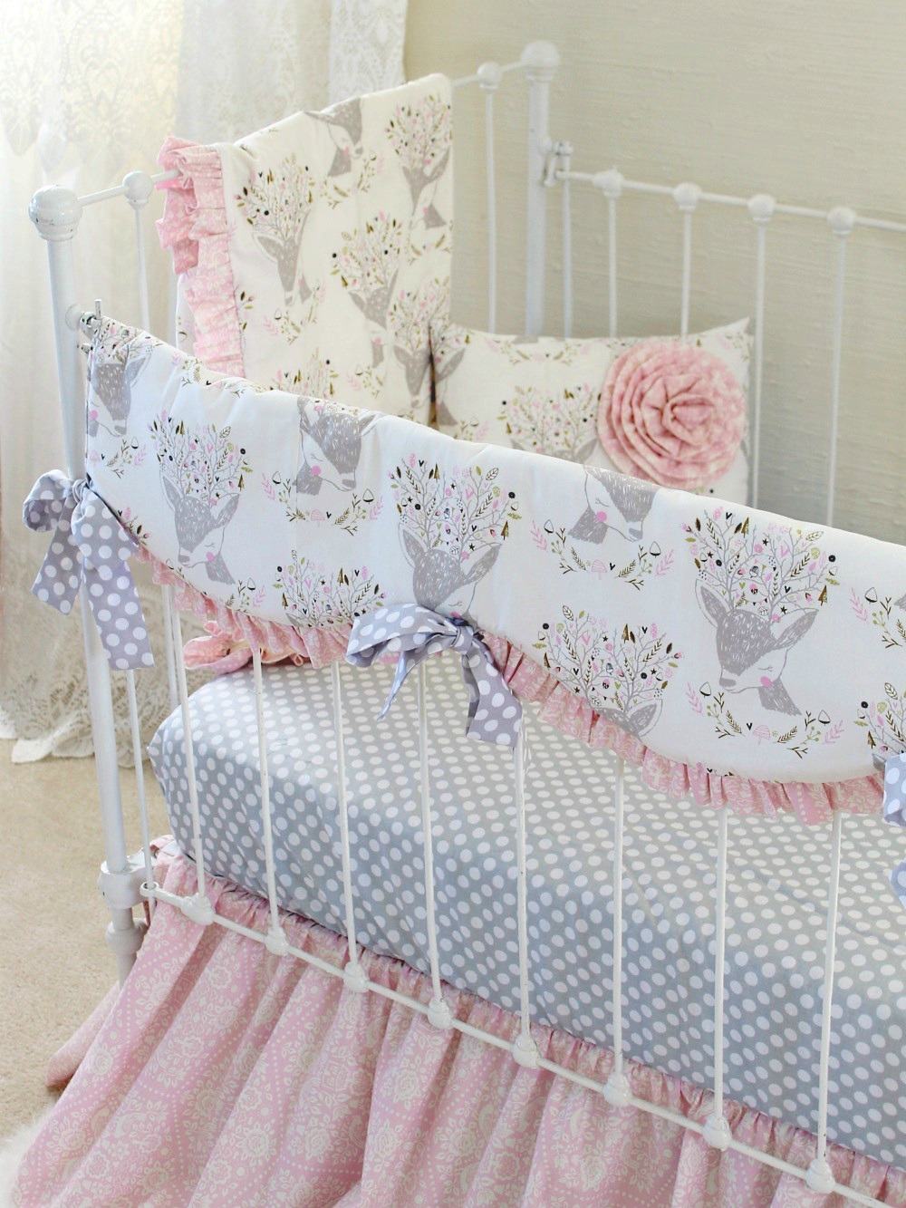 Fawn Baby Bedding Girls Woodland Nursery Lottie Da Baby