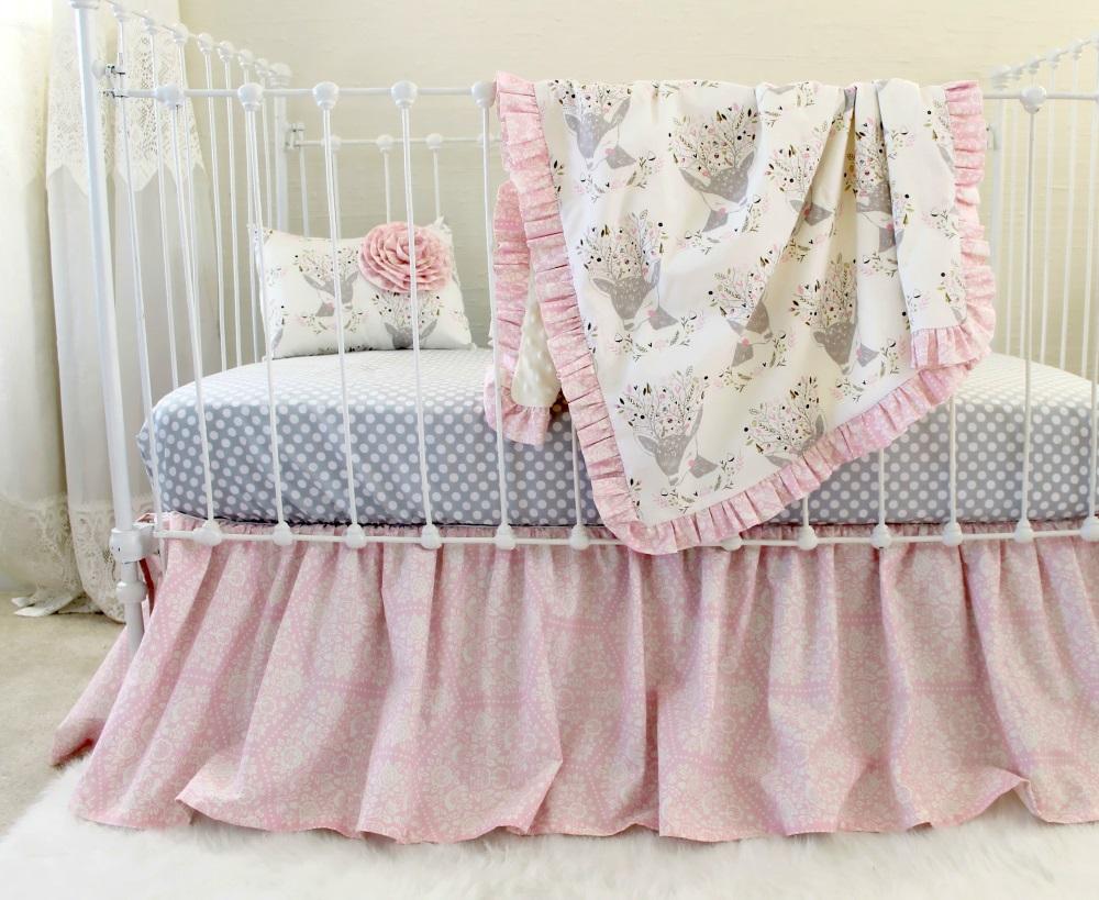 Fawn Baby Bedding Girls Woodland Nursery Lottie Da Baby