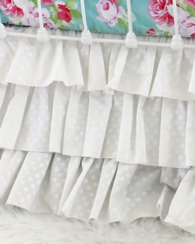 white ruffle crib skirt