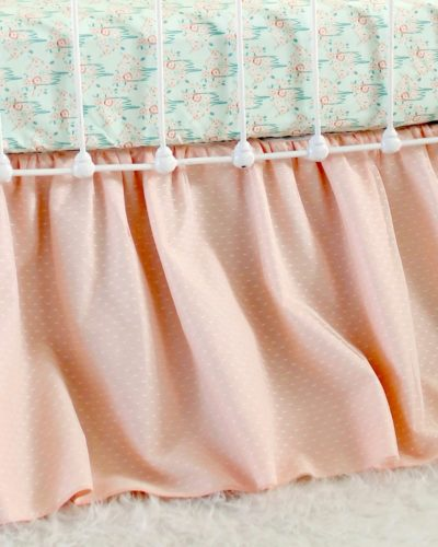 peach crib skirt