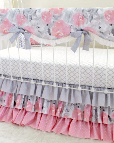 Pink Clouds and Silver Linings Rail Cover Bumperless Set - Blend (Vertical Angle)