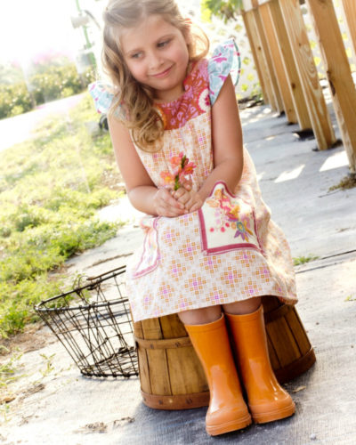girls vintage play dress
