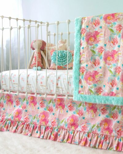 peonies blanket set