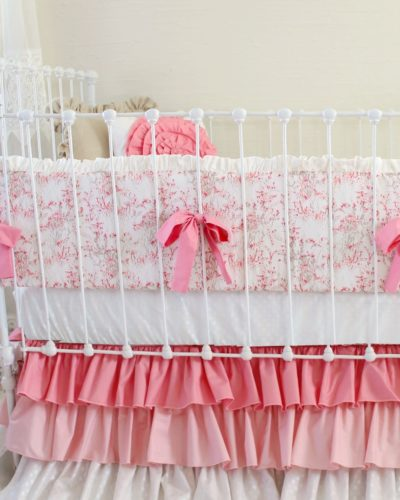 Cherry Blossom Delight Bumper Set with Ombre Skirt
