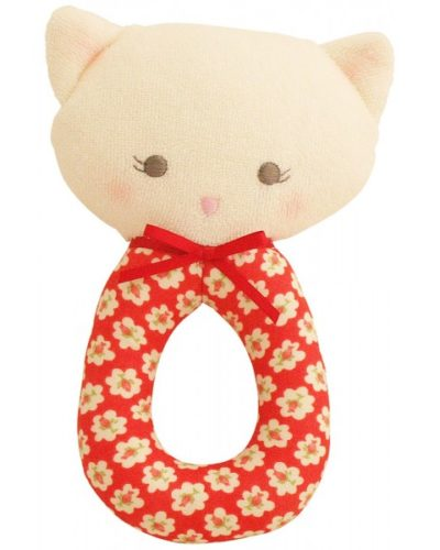 Kitty Grab Rattle Red Posy - Alimrose