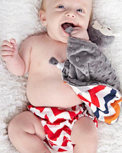 chevron boy lovey blanket