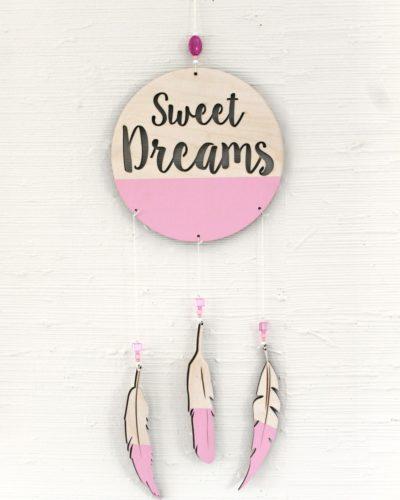 Pink Dreamcatcher nursery decor
