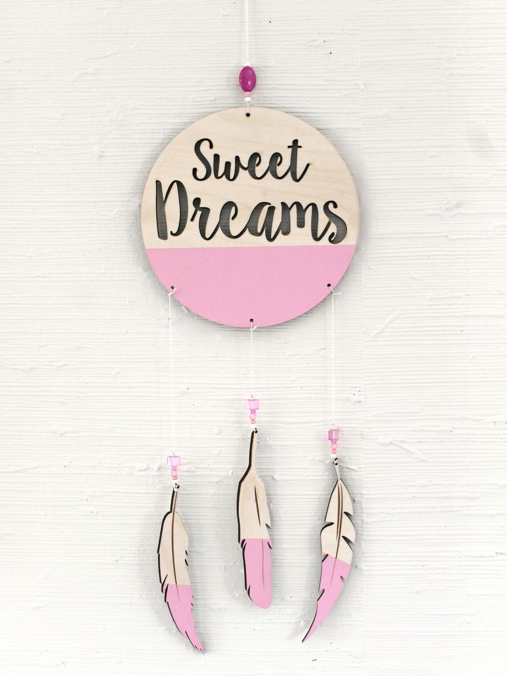 sweet dreams pink dreamcatcher mobile pink dreamcatcher nursery decor