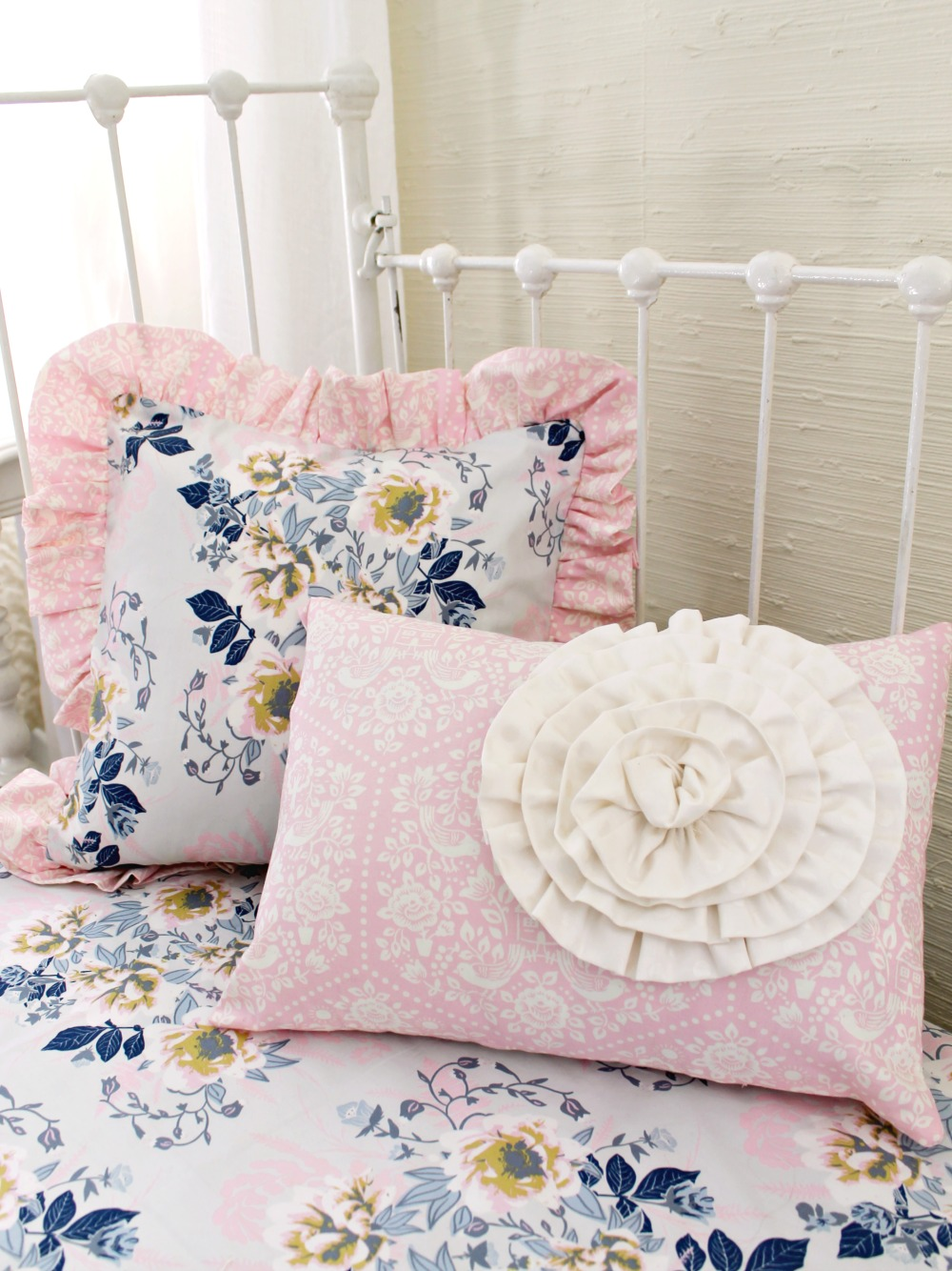 Ethereal Lullaby Baby Bedding Set For A Pink Gray And
