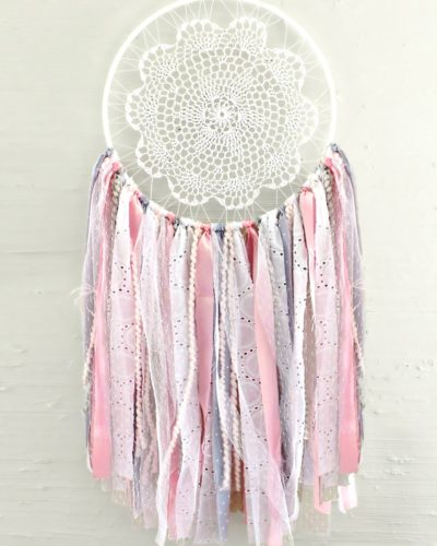 pink and gray dreamcatcher