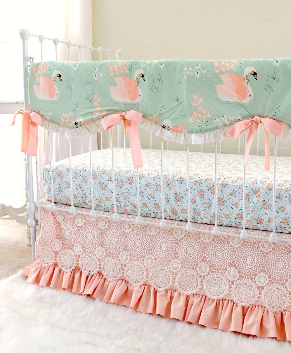 Swan Baby Bedding For An Elegant Vintage Inspired Nursery