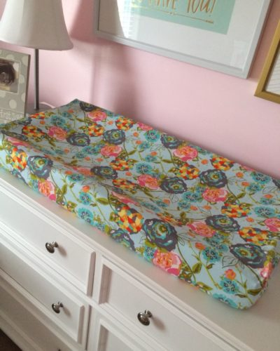 Lily Belle Floral Changing Pad Cover