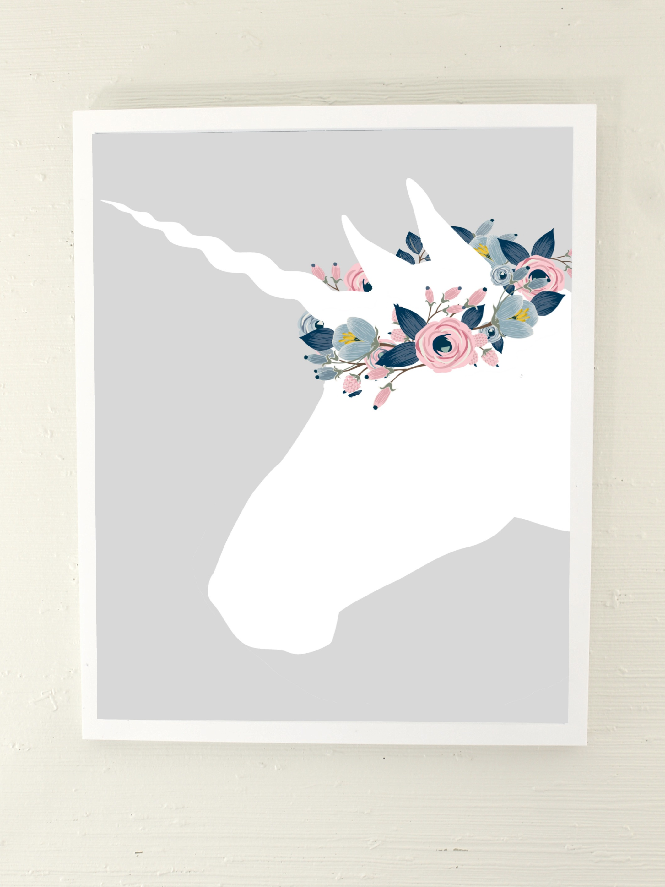 Silver Unicorn Art Print Digital Download Lottie Da Baby