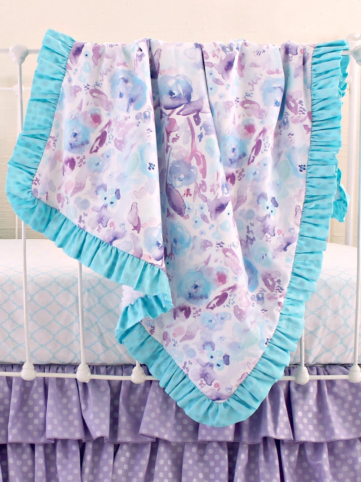 Ocean Dreams Lavender Bumperless Bedding Set Lottie Da Baby