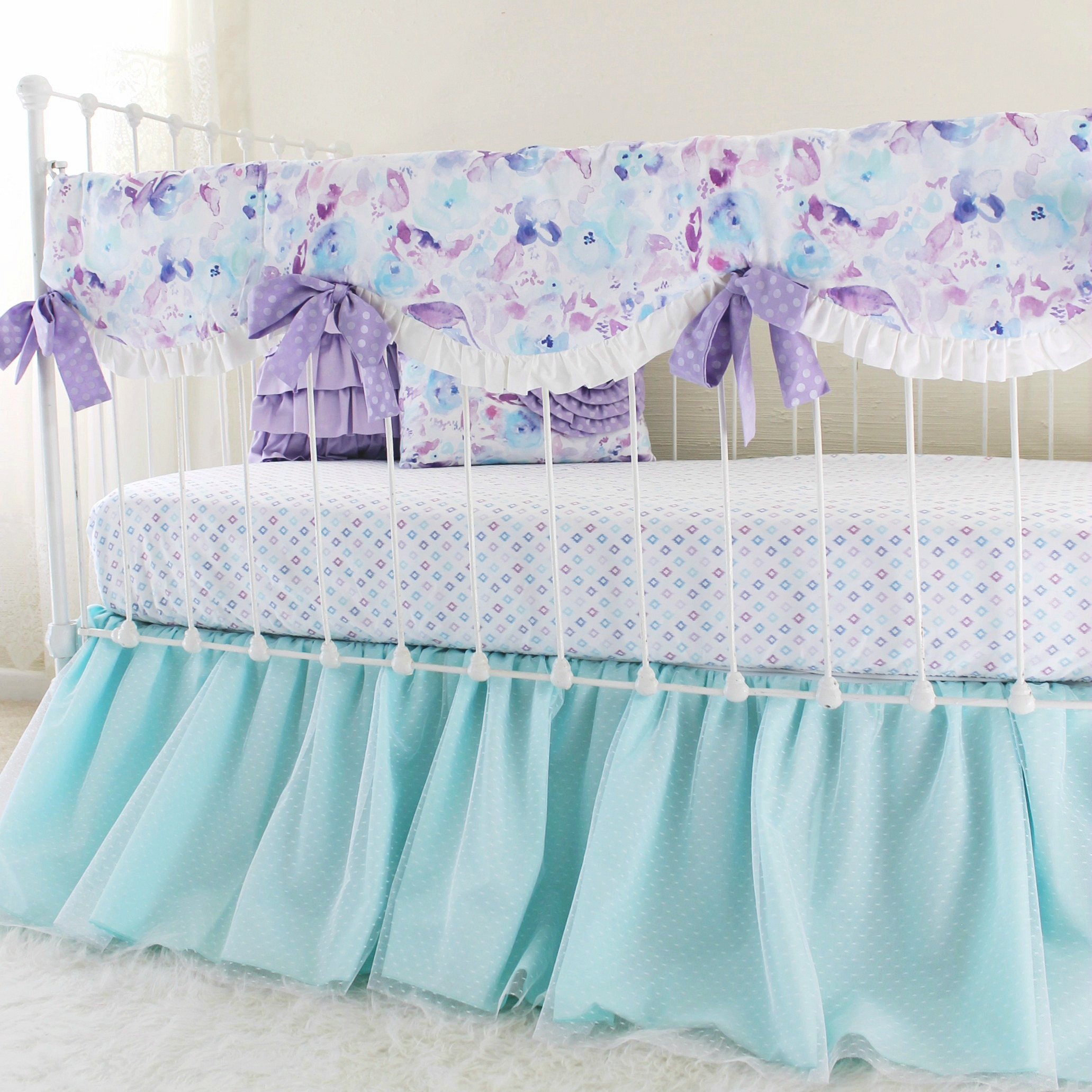 coral in by ip the aqua floral cribs shell baby set peanut walmart gia crib bedding girl com