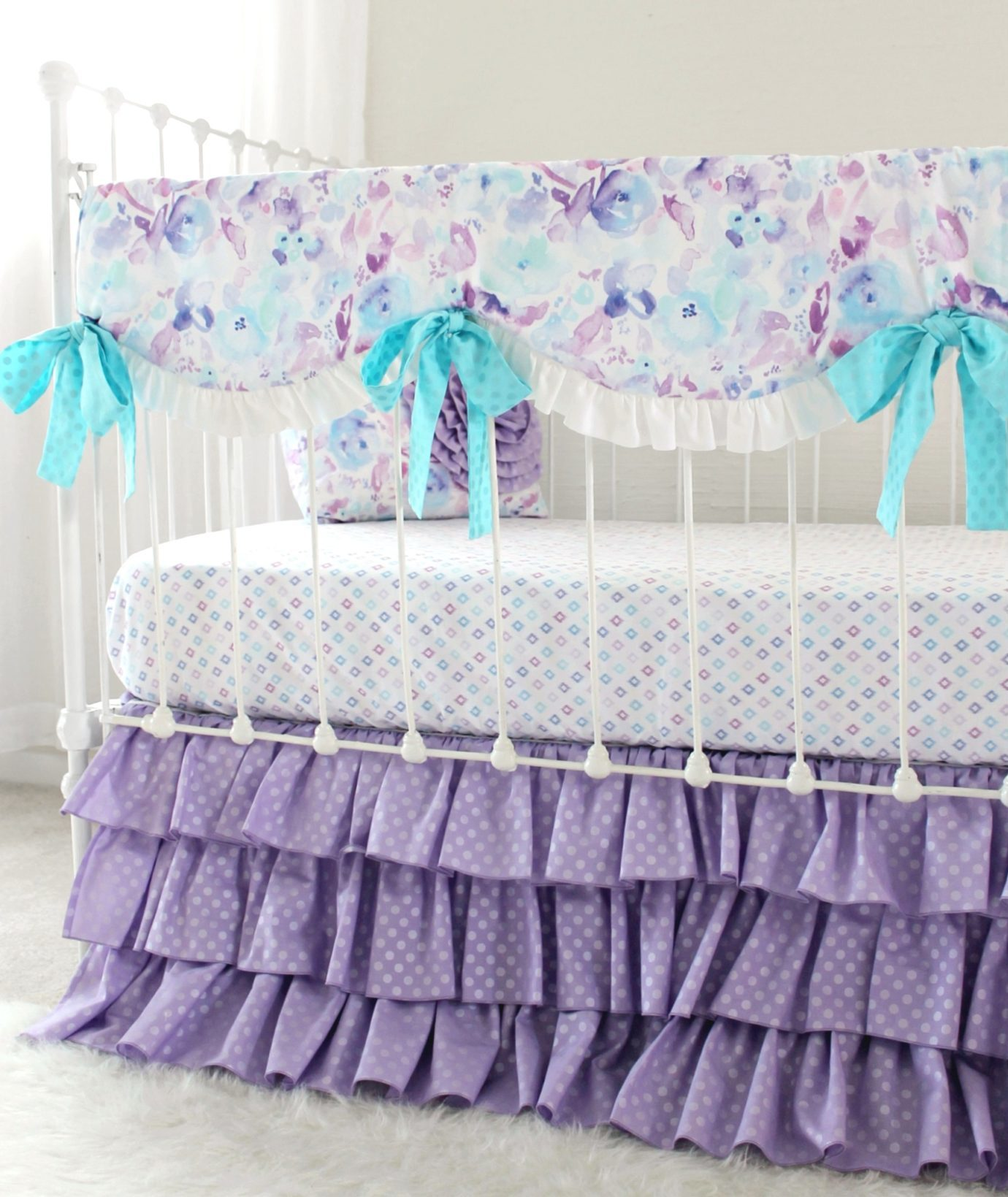Ocean Dreams Lavender Bumperless Bedding Set Lottie Da Baby
