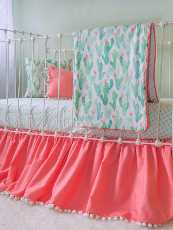 cactus blanket crib set