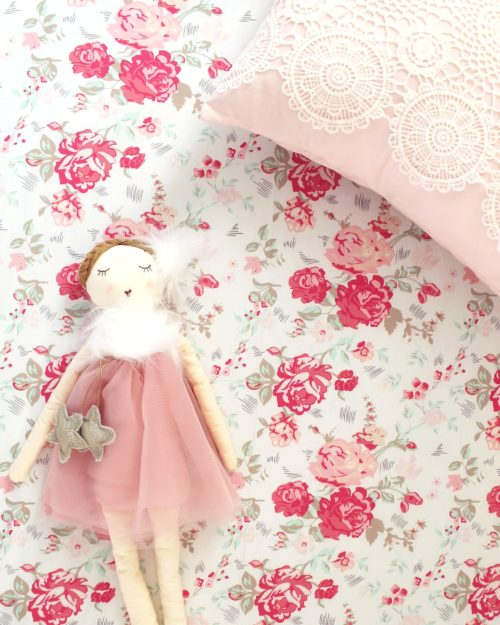 Floral Crib Sheets Baby Girl Fitted Sheet Lottie Da Baby