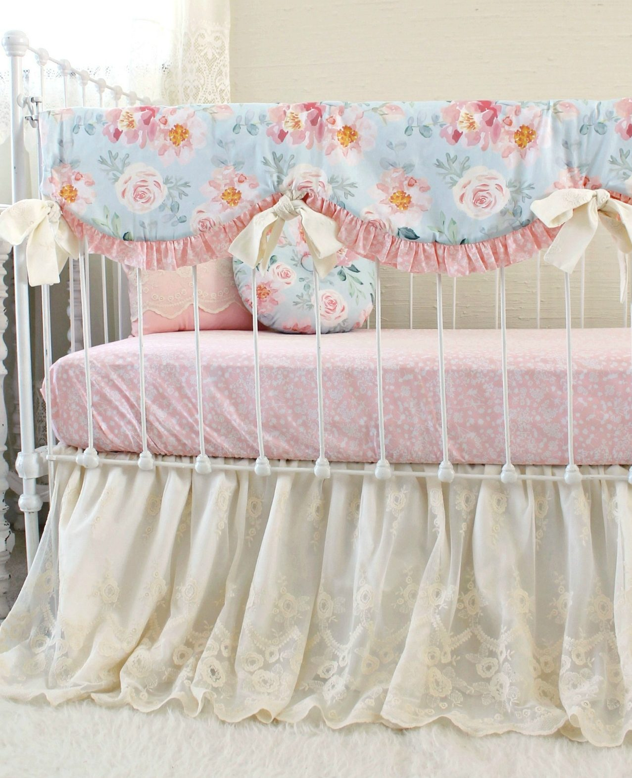 Romantic Blooms Vintage Floral Baby Bedding Set Lottie Da Baby