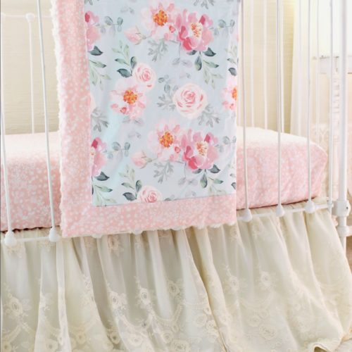 Vintage Floral Crib Bedding