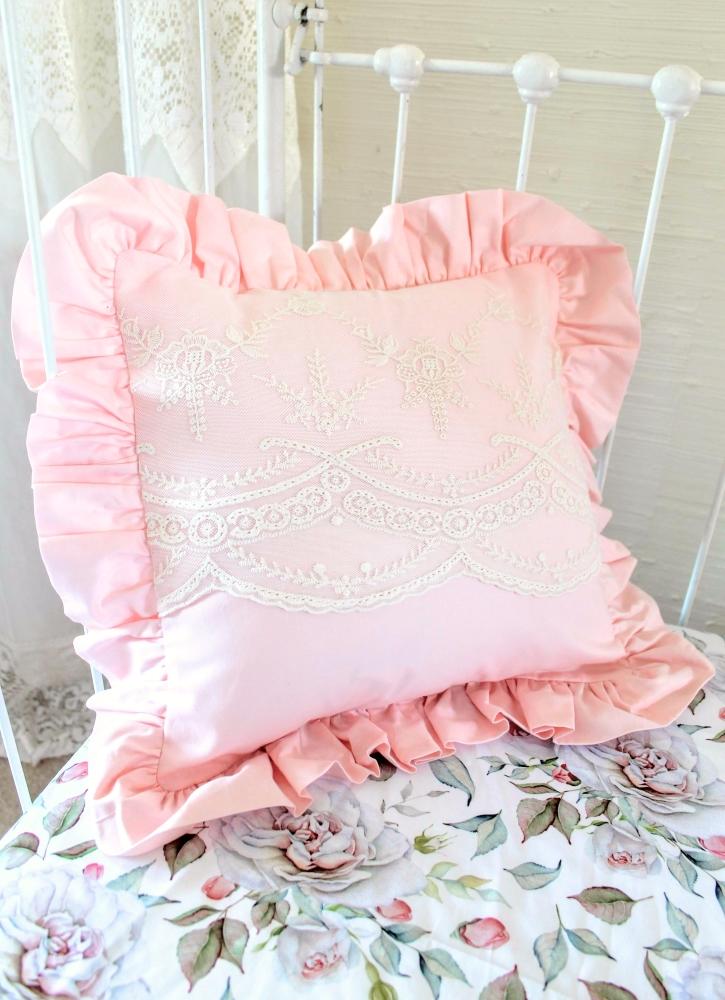 Blush Pink Throw Pillow