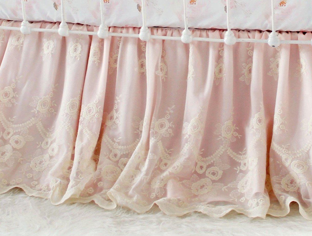 Blush Pink Crib Bedding